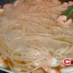 Spaghetti con gamberetti al limone